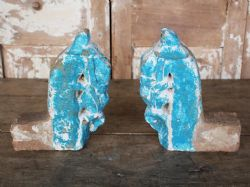 Late 19th Century Architectural Stone Horse Head Finials (pair)